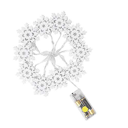 Riuty 10 LEDs Lichterketten, batteriebetriebene wasserdichte Dekorationen im Freien Schneeflocke Lichter Dekor für Indoor Geburtstag, Halloween, Thanksgiving, ()