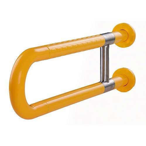 HDGZ Badezimmerhandläufe Edelstahl-Sicherheits-Haltegriffe für den Toilettenteich oder die Badewanne, die nachts leuchten, mit Schrauben 60 cm