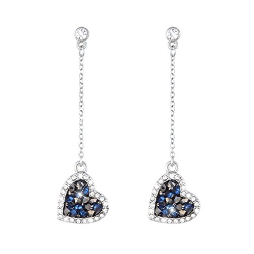 Stroili - Orecchini cuore in metallo rodiato e cristalli per Donna - Starlight
