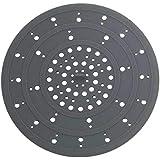 WENKO Afvoerzeef siliconen grijs - gootsteenzeef, siliconen, 12 x 0,3 x 12 cm, grijs