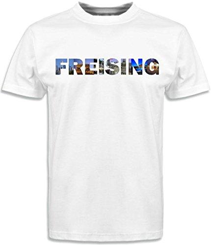 T-Shirt mit Städtenamen Freising Weiß
