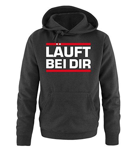 Comedy-Shirts -  Felpa con cappuccio  - Maniche lunghe  - Uomo Schwarz / Weiss-Rot