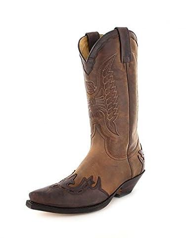 Sendra boots bottes 2560 westernstiefel cowboystiefel (différents coloris) - Marron
