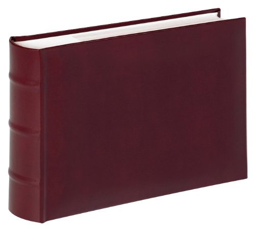 Walther ME-373-R Memoalbum Classic für 100 Fotos 15 x 20 cm, rot (Schwarz Leder Bücherregal)