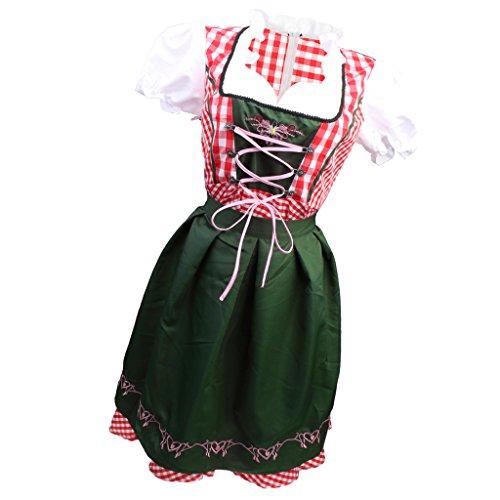 Baoblaze costume oktoberfest heidi tedesco dress up drindl beer maid halloween - xxl