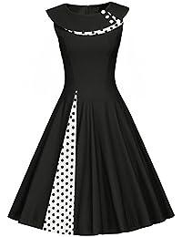 ba1bd740cd77 YOGLY Vintage Retro 1950 s Audrey Hepburn pin-up Robe de Soirée Cocktail  Demoiselle d