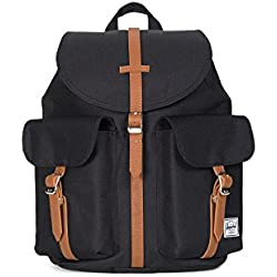 Herschel Supply Company Dawson Casual Daypack, Black/Tan Synthetic Leather (negro) - 10301-00001-OS
