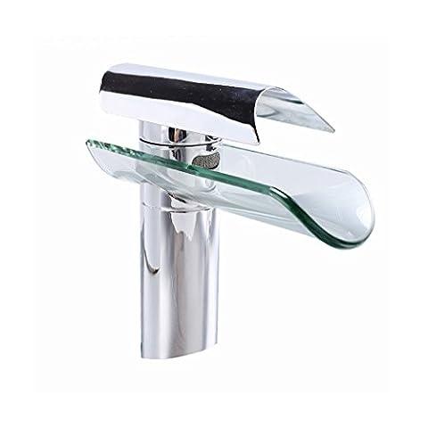 Homdox Spültisch Mischbatterie Wasserhahn Küchearmatur Waschtisch Wasserfall Armatur Hahn für Küchen, Badezimmer,Waschbecken