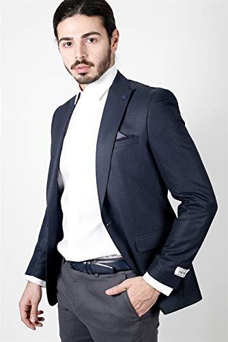 82661995c1974 Jakamen Desenli Dar Kalıp - Slim Fit Lacivert Ceket-Lacivert-48 Ürün Resmi