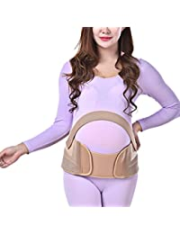 Zhhlinyuan Maternity Support Belt Waist Back Abdomen Belly Band Soft Seamless for mujeres embarazadas