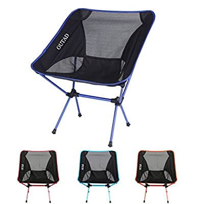 NICEAO Outdoor Folding Camping Chairs Portable Moon Leisure Chair Beach Chairs with Carry Bag for Hiking/Travel/Hunting/Fishing - cheap UK light store.