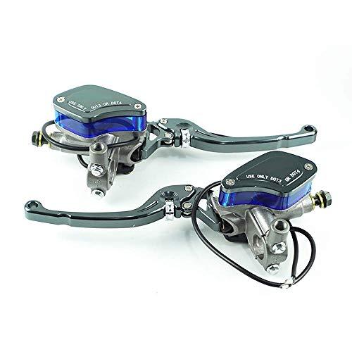 ma/ître-cylindre de pompe dembrayage hydraulique en alliage daluminium universel de 1 paire EBTOOLS Leviers dembrayage de frein de modification de moto