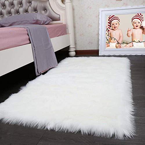 chaffell Area Rug Klassisch Rechteck Faux Wolle Plüsch Teppich Flauschige Zottelig Synthetik Lammfell Pelz Sofa Werfen Decke Pads,60x180cm(24x71inch) ()