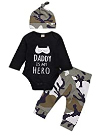 K-youth Ropa Bebe Nino Recien Nacido Otoño Invierno Daddy IS MY Hero Infantil Body