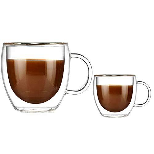 ge Glasschale mit dem Griff Kaffeetassen Kung Fu Tee Tasse Milch Saft Gesundes Getränk Becher,250ML ()