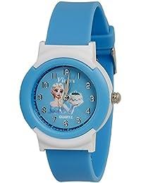 Vizion Analog Sky-Blue Dial (Barbie-Birthday Princess with Cake ) Cartoon Character Watch for Kids- 8811-8-1