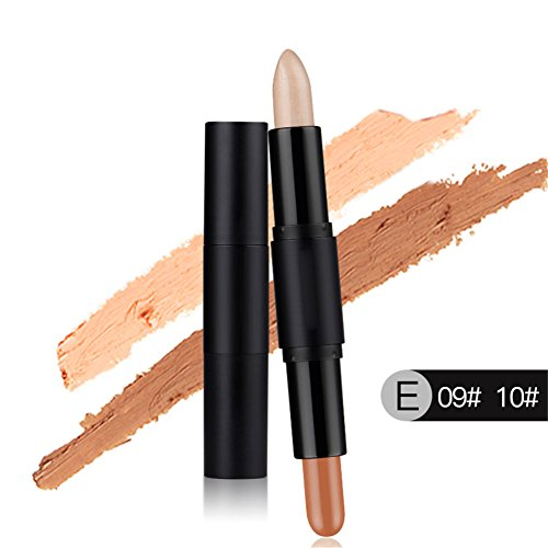 2 in1 Double Ended Make-up Concealer Coverstick Highlight & Contour Stick Gesicht Kontur Highlighting Correctors Cover Up Stick Kaschiert alle Flecken von Haut Molie