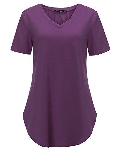 StyleDome Damen T-Shirt Violett