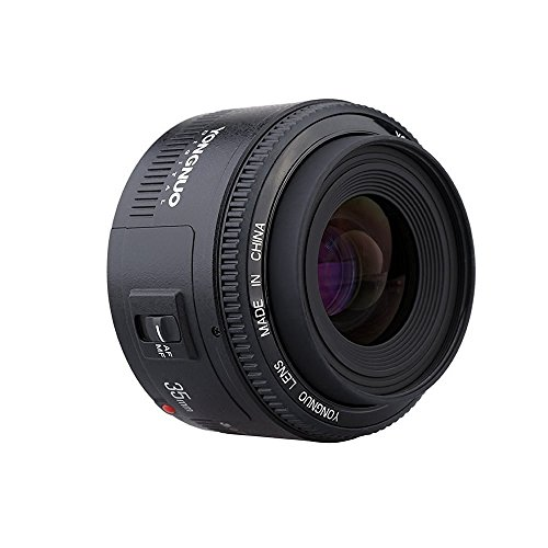 Yongnuo YN35mm F2 Lens 1:2 AF / MF Wide-Angle Fixed / Prime Auto Focus Lens per Canon EF Mount EOS Camera