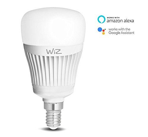 WiZ Whites lampadina LED Smart Candle WiFi luce bianca con attacco E14. Dimmerabile, 64.000 tonalità di bianco. Funziona con Amazon Alexa e Google Home.