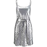 Laura Scott Evening Damen-Kleid Paillettenkleid Silber