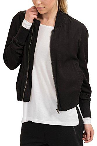 trueprodigy Casual Damen Marken Bomberjacke einfarbig Basic, Damenjacke cool und stylisch Vintage (sportlich & Slim Fit), Jacke für Frauen...