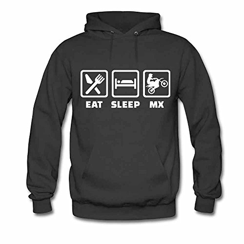 Eat Sleep BMX Women's Pure Cotton Hoodies L