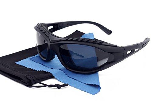 Xtreme Polarisierte Sport-Sonnenbrille Brillen für Männer Frauen Unisex Kajak, Kanu, Snow Boarding, Radfahren Skifahren, Fahren, Radfahren Schaumstoff gepolstert