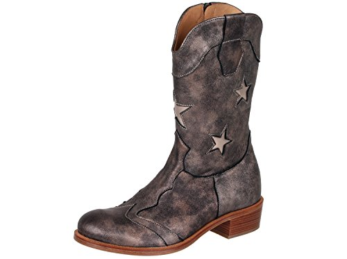 Bronze Metallic Kid Schuhe (Zecchino d'Oro A18-1880 Mädchen Cowboy Stiefel Boots, Metallic Bronze (2022), EU 39)