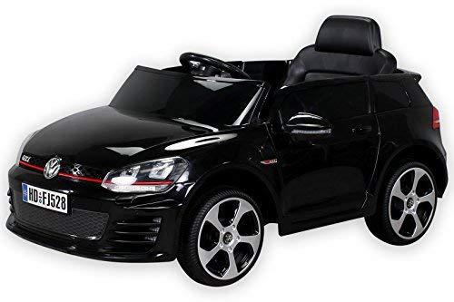 Actionbikes Motors Kinder Elektroauto VW Golf GTI Original Lizenz Kinderauto Kinderfahrzeug Elektro Auto Spielzeug Für Kinder (Schwarz)