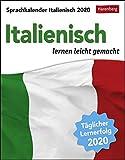 Sprachkalender - Italienisch lernen leicht gemacht - Kalender 2020 - Harenberg-Verlag - Tagesabreißkalender - 12,5 cm x 16 cm