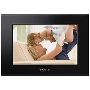 Sony DPF-C70E Digitaler Bilderrahmen (17,8 cm (7 Zoll) mit ECO-Funktion, 16:10, SD/SDHC Kartenslot) Wechselrahmen schwarz/rot/braun