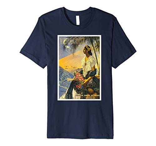 Vintage Classic Veracruz Mexiko Travel Poster T Shirt