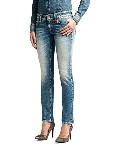 Replay Damen Skinny Hose Rose Blau (Blue Denim 10)