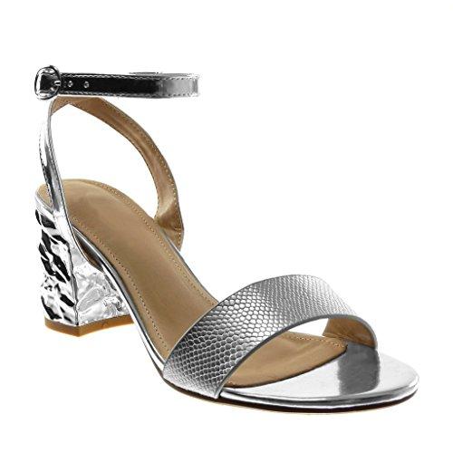 Beige 41 EU Angkorly Scarpe Moda Sandali con Cinturino alla Caviglia Donna op0