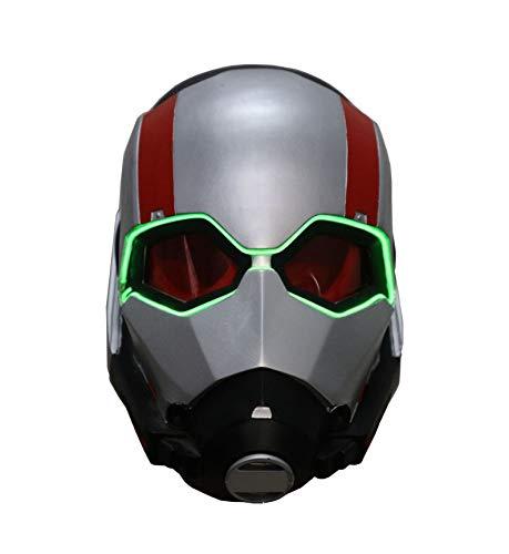 Kind Erwachsener Halloween Mottoparty Schwarze Helm Cosplay Karneva Herren Held Vollen Kopf Deluxe Replik ()