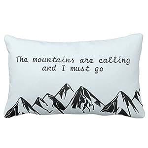 Lightenin la montagna chiama e i deve andare in tela di cotone decorativo rettangolo gettare federa per cuscino, 50,8cm x 76,2cm