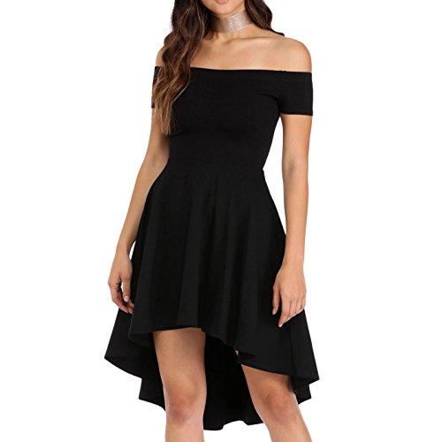 Toocool - Vestito donna mini abito tubino scollato aderente elegante nuovo sexy DL-2028 Nero