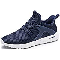 ONEMIX Slip-On Men's Running Shoes Lightweight Cushioning Casual Outdoor Sneakers 1328 Blue 45