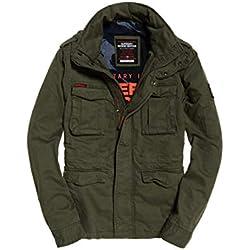 Superdry Men's Classic Rookie 4 Pkt JKT Jacket, (Army Green E), XX-Large (Size: 2XL)