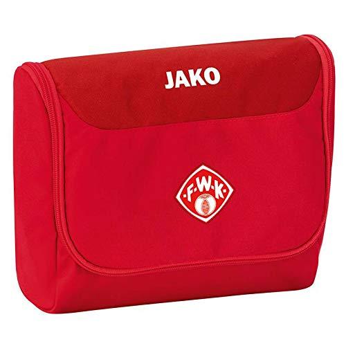 JAKO FC Würzburger Kickers Kulturbeutel Striker rot rot, (Einheitsgröße)