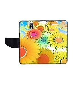 KolorEdge Printed Flip Cover For Samsung Galaxy Note 3 Neo Multicolor - (55KeMLogo10932SamN750)
