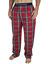 Polo Ralph Lauren Homme Logo Baudrier Plaid Pyjama Bottoms, Rouge