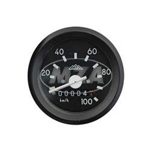 Tachometer mit Beleuchtung, ohne Kontrollleuchte - ø 60mm - ohne Leuchtmittel - 100km/h - Beleuchtung, Kontrollleuchten
