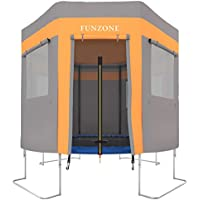 Ultrasport Trampolinzelt für Gartentrampolin Ultrasport Jumper Orange-Grau (Modelle ab Mai 2014) / Trampolinspielzelt, wie ein Trampolindach, zum Verstecken, Toben