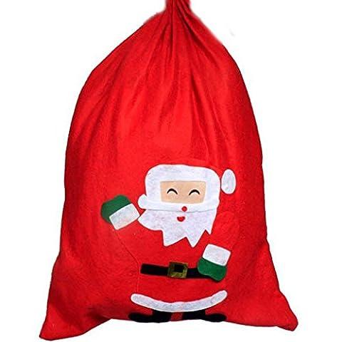 Xuanhemen Red Christmas Big Pocket / Gift Bag / Santa Claus Backpack Taille 70 * 50cm (Aléatoirement Envoyé)