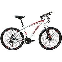 wotefusi 21 Vitesses vélo de Montagne 26 Pouces vélo VTT Cyclisme Blanc et Rouge