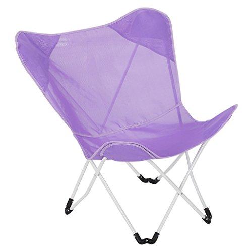 MDBLYJChaise longue Chaise de papillon, chaise pliante de balcon, divan paresseux, chaise de soleil de loisirs, (Couleur : Purple)