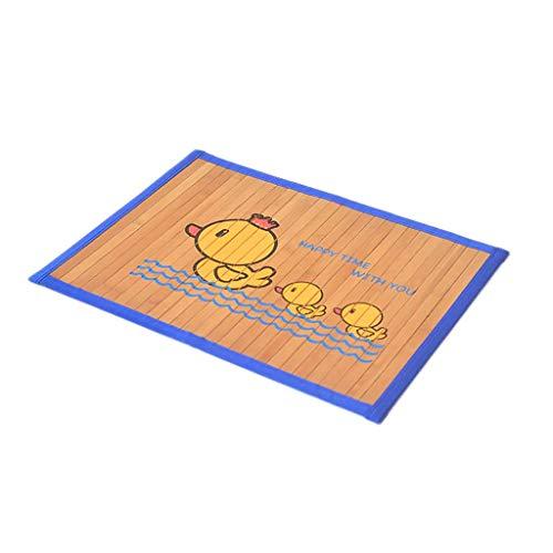 Alfombra de enfriamiento para Mascotas, colchoneta de bambú para Gatos de Perro Alfombra de enfriamiento de Verano para Descansar, Tres tamaños Disponibles (Color : Wood, tamaño : L)