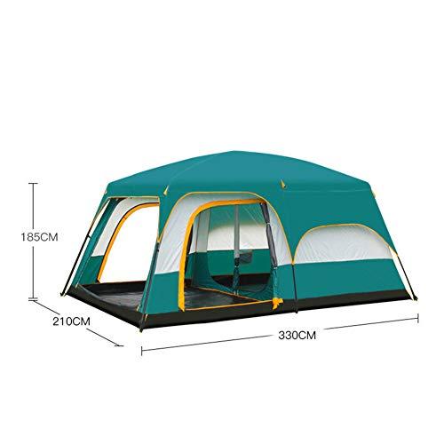 ERLIANG Zwei Zimmer, EIN Flur, Zelt, Outdoor-Camping, 6 Personen, 8 Personen, 2 Zimmer, EIN Flur, regenfestes Mehrpersonenzelt,C